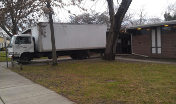 Our truck unloading in Sayville